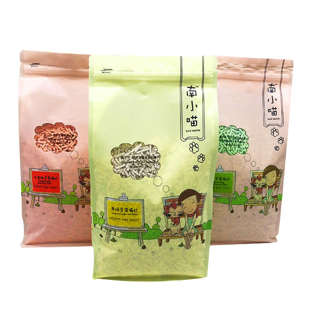 南小喵》食用級凝結力強原味|水蜜桃|綠茶豆腐貓砂6L*6包