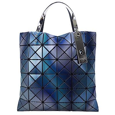 ISSEY MIYAKE 三宅一生 BAOBAO 線紋三色極光漸變6x6手提包(藍紫)