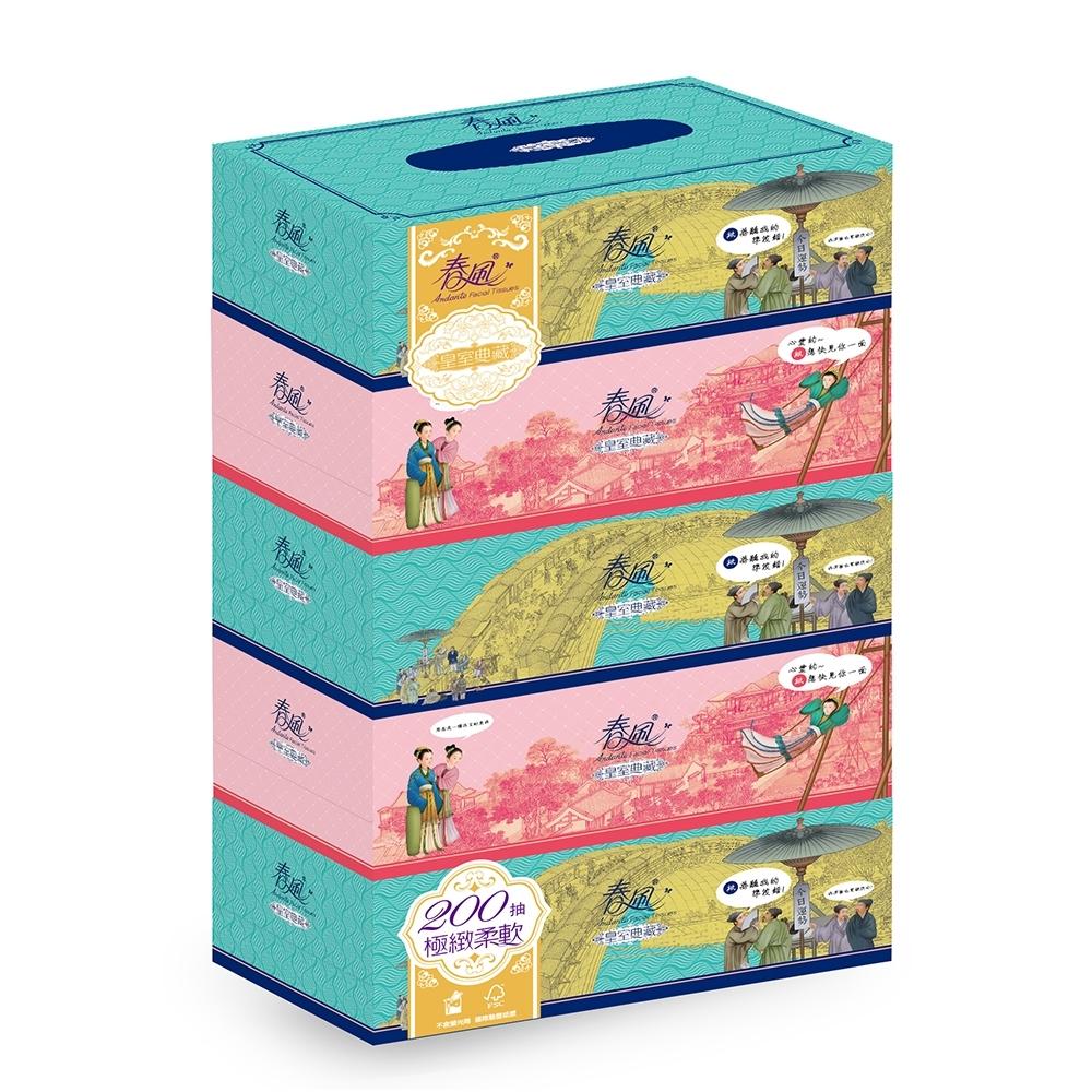 春風盒裝面紙200抽x5盒/串-故宮皇室典藏版