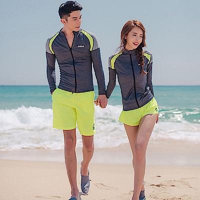 AH dream夢想女孩 多件式 情侶 螢光黃衝浪衣泳裝CR353-2