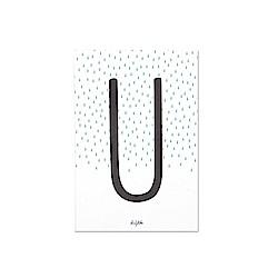 Dailylike 英文字母插畫明信片-21 U