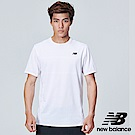 New Balance DRY 透氣緹花短袖上衣 AMT83047WT 男性 白色