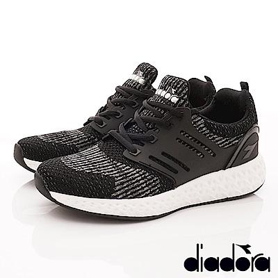 DIADORA-針織彈力跑鞋款 SI880黑(男段)