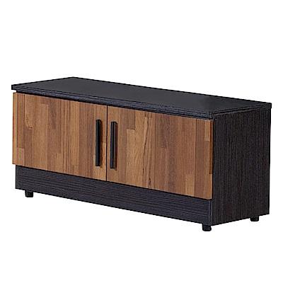 文創集 羅姆時尚2.7尺雙色座鞋櫃/玄關櫃-80x32x38cm免組