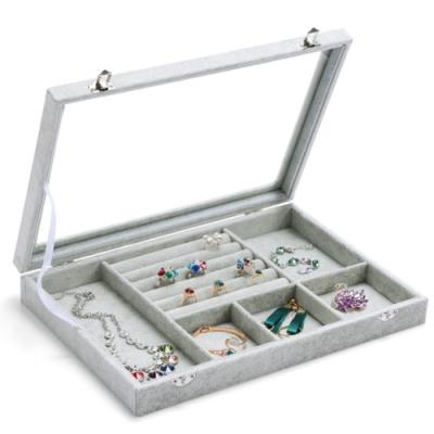 [時時樂限定]梨花HaNA 超強收納冰花絨飾品收納盒-珠寶箱展示櫃