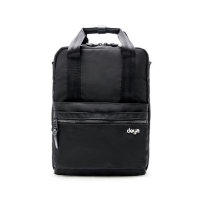 deya 天生莊重電腦三用背包-黑