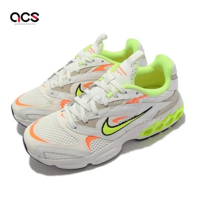 Nike 休閒鞋 Zoom Air Fire 運動 女鞋 復古鞋型 氣墊 避震 異材質拼接 白 彩 CW3876-104