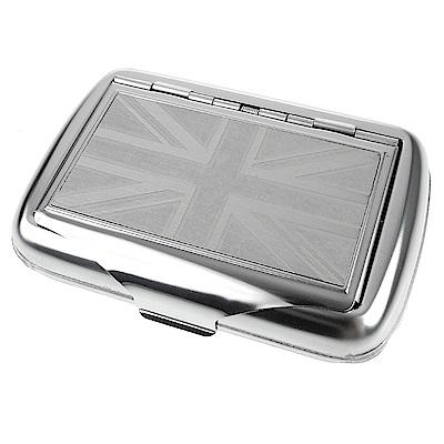 英國進口 TOBACCO CASE-馬口鐵製收納盒(煙盒/捲煙紙盒/煙草盒)-英國國旗款
