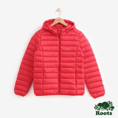 女裝ROOTS - 經典收納式羽絨外套-紅