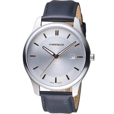 WENGER City 城市系列 經典簡約紳士腕錶-43mm