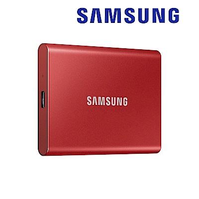 SAMSUNG 三星T7 2TB USB 3.2 Gen 2移動固態硬碟 金屬紅 (MU-PC2T0R/WW)