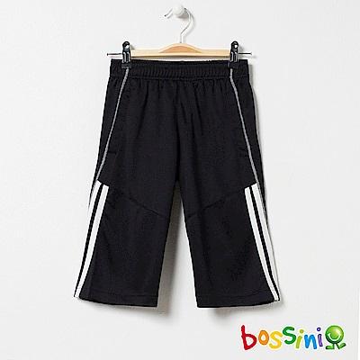 bossini男童-速乾針織短褲附內搭黑