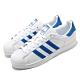 adidas 休閒鞋 Superstar 復古 低筒 男鞋 海外限定 愛迪達 三葉草 貝殼頭 皮革 白 藍 EE4474 product thumbnail 1