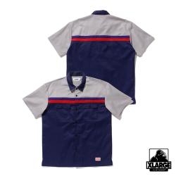 XLARGE S/S LINE WORK SHIRT短袖襯衫-深藍