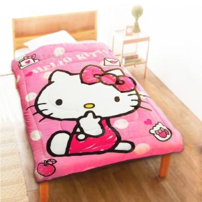享夢城堡 法蘭絨暖暖毯被150x195cm-HELLO KITTY 我的日常-粉.紅