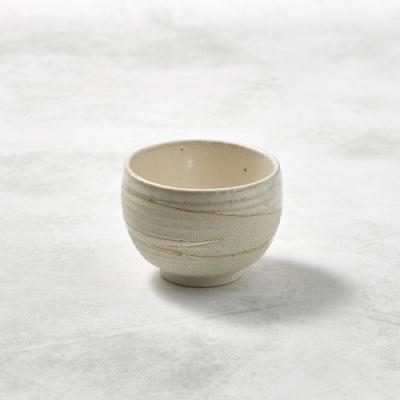 KOYOTOKI日本美濃燒 手感和風茶杯 - 白刷毛-250ml