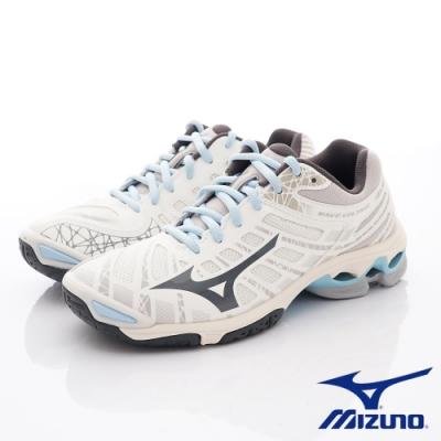 Mizuno美津濃 WAVE VOLTAGE排球鞋 V1GC196018米白藍(女段)