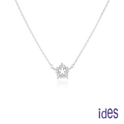 ides愛蒂思 日韓時尚設計純銀晶鑽項鍊鎖骨鍊/星情