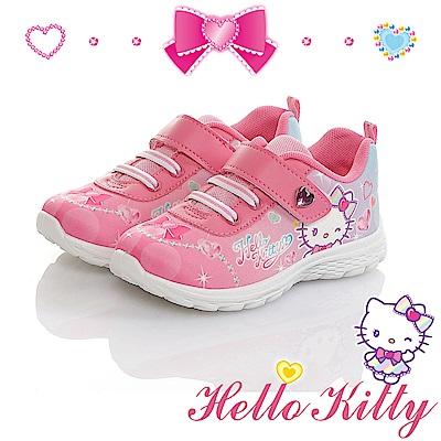 HelloKitty童鞋 寶石系列 輕量減壓抗菌防臭休閒鞋-桃