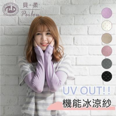 貝柔冰涼紗防曬袖套-可愛點點(6色可選)