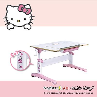 SingBee欣美 Hello Kitty-實木樺木U型桌