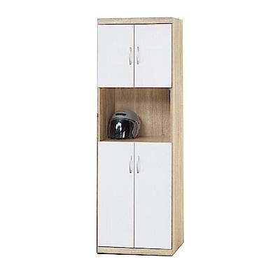 綠活居 莎薇2尺木紋四門高鞋櫃/玄關櫃(四色)-60x39x180cm-免組