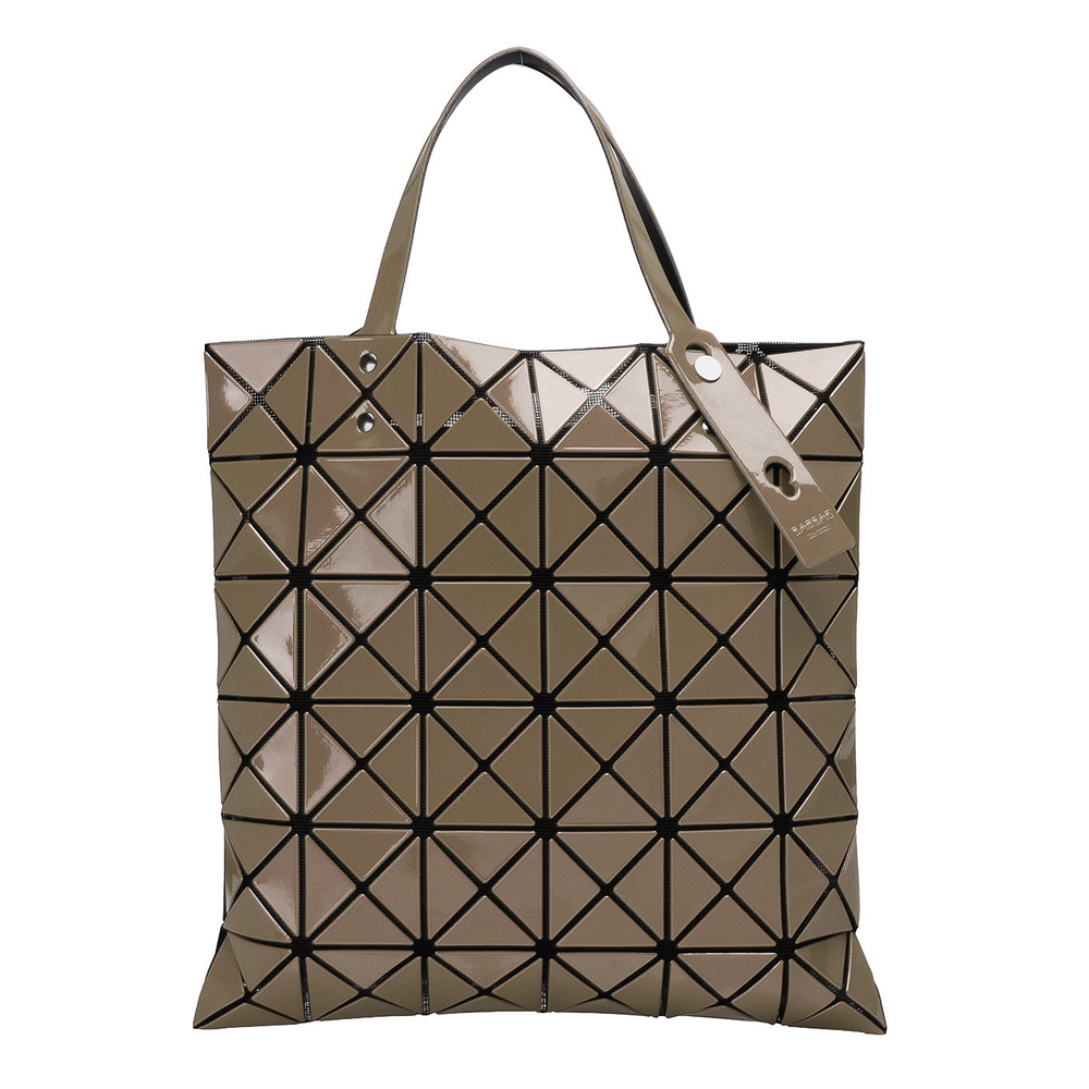 ISSEY MIYAKE 三宅一生BAOBAO幾何方格6x6手提包(鍺色)