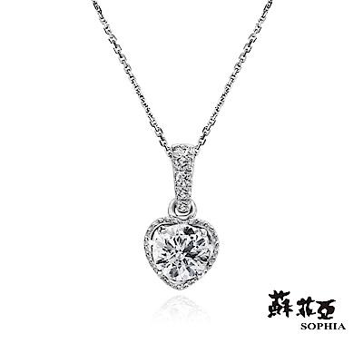 蘇菲亞SOPHIA 鑽石項鍊-無限的愛0.30克拉FVVS1鑽鍊