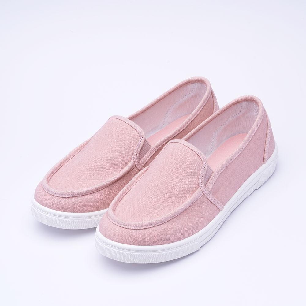 ARRIBA艾樂跑女鞋-布質懶人鞋 便鞋-藍/粉(AB8073) product image 1