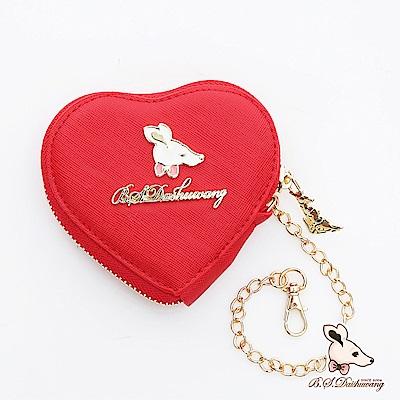 B.S.D.S冰山袋鼠-法式雪酪x愛心隨身零錢包-愛戀紅