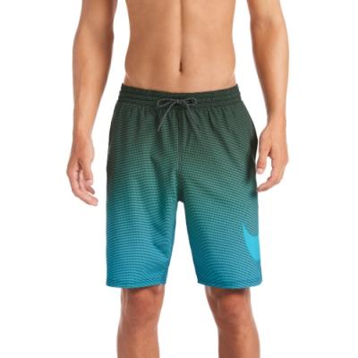 NIKE 海灘褲 沙灘褲 九吋短褲 男性 Atmosphere Swoosh Vital 墨綠 NESSA493-303(有內裡)
