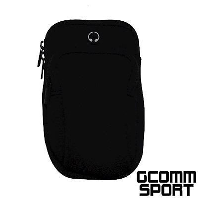 GCOMM SPORT 萊卡音樂防汗水運動收納臂包 經典黑