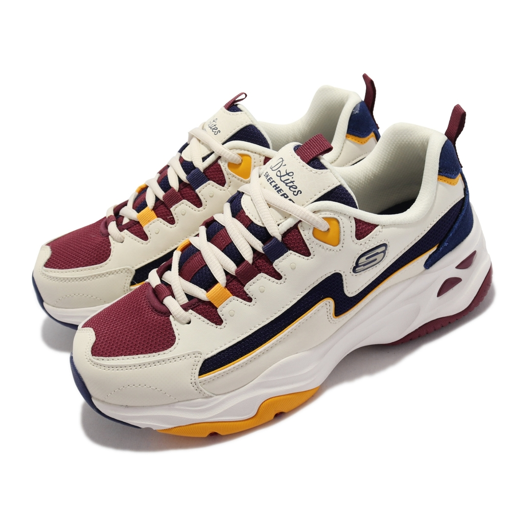 Skechers 休閒鞋 D Lites 4 厚底 復古 女鞋 老爹鞋 固特異膠底 耐用 穩定 淺褐 多色 149493-NTBG