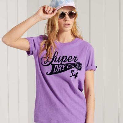 SUPERDRY 女裝 短袖T恤 COLLEGIATE CALI STATE 紫