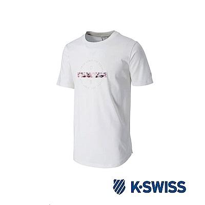 K-SWISS Short Sleeve T-Shirts印花短袖T恤-女-米白