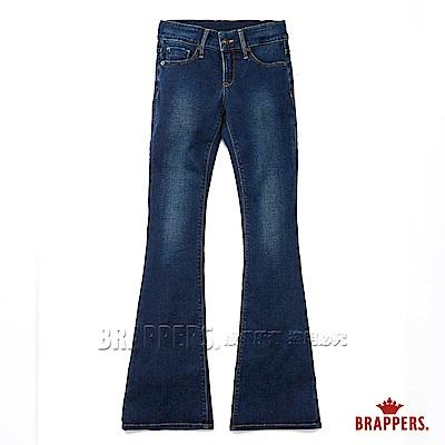 BRAPPERS 女款 新美尻Royal系列-女用中低腰彈性小喇叭褲-藍