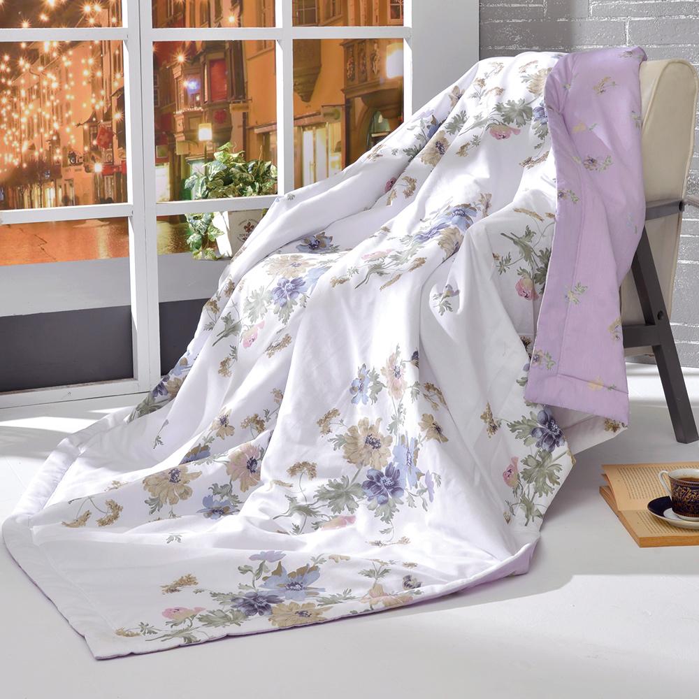 義大利La Belle 紫漾花開 純棉涼被(5x6.5尺)