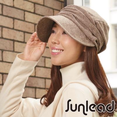 Sunlead 小顏效果。保暖防寒護髮美型貝蕾帽 (深棕色)