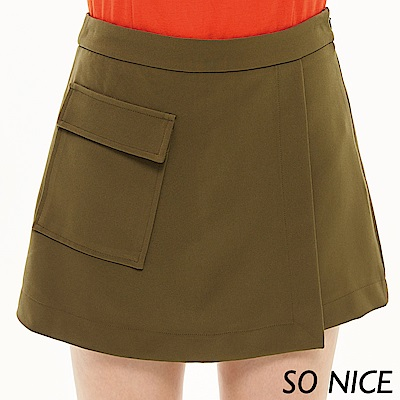 SO NICE都會大口袋裙褲