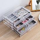 梨花HaNA 實用密技透明亞克力絨質飾品盒收納