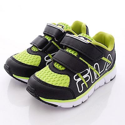 FILA頂級童鞋款 雙絆帶輕量款 23Q-060黑綠(中童段)0