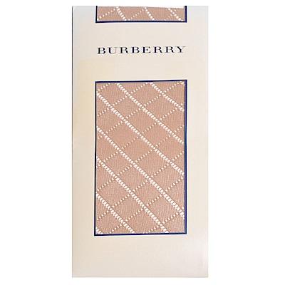 BURBERRY 素雅方塊菱格花紋半統襪(膚色)