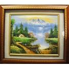 開運風景山水 原作手繪 油畫掛畫壁飾