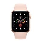 [無卡分期-12期]Apple Watch S5(GPS) 40mm金色鋁金屬錶殼+粉沙色運動錶帶