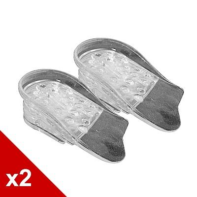 糊塗鞋匠 優質鞋材 B05 五段式透明隱形增高墊 (2雙/組)