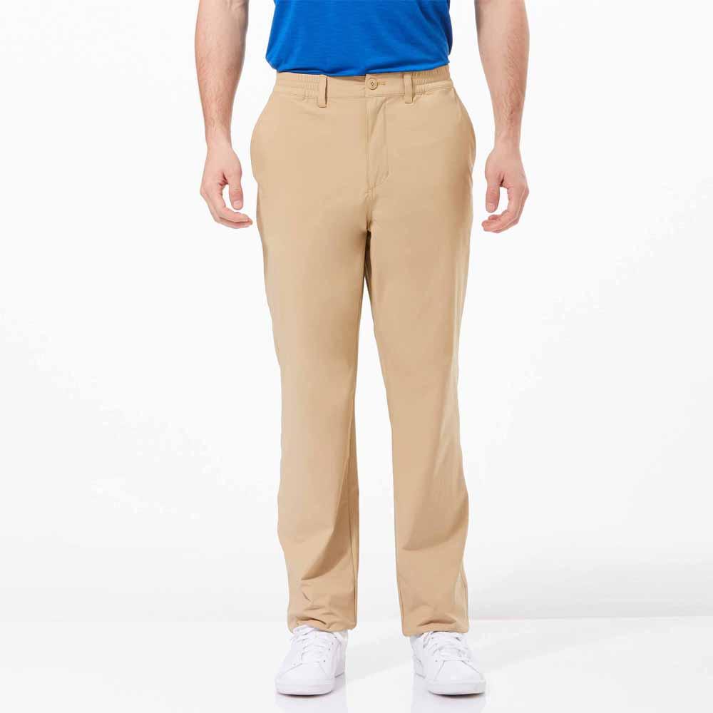 【HAKERS 】男 抗UV快乾彈性修身長褲-卡其