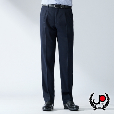 【JYI PIN 極品名店】品味風範彈力打褶西褲_黑斜紋(BW738-2)