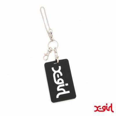 X-girl MILLS LOGO RUBBER PASS CASE卡片夾-黑