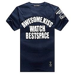 BuyGlasses 美式文字情侶短袖T恤