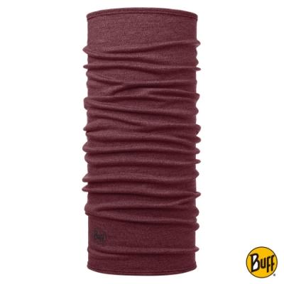 【西班牙BUFF】 美酒紅 美麗諾羊毛織色頭巾-保暖